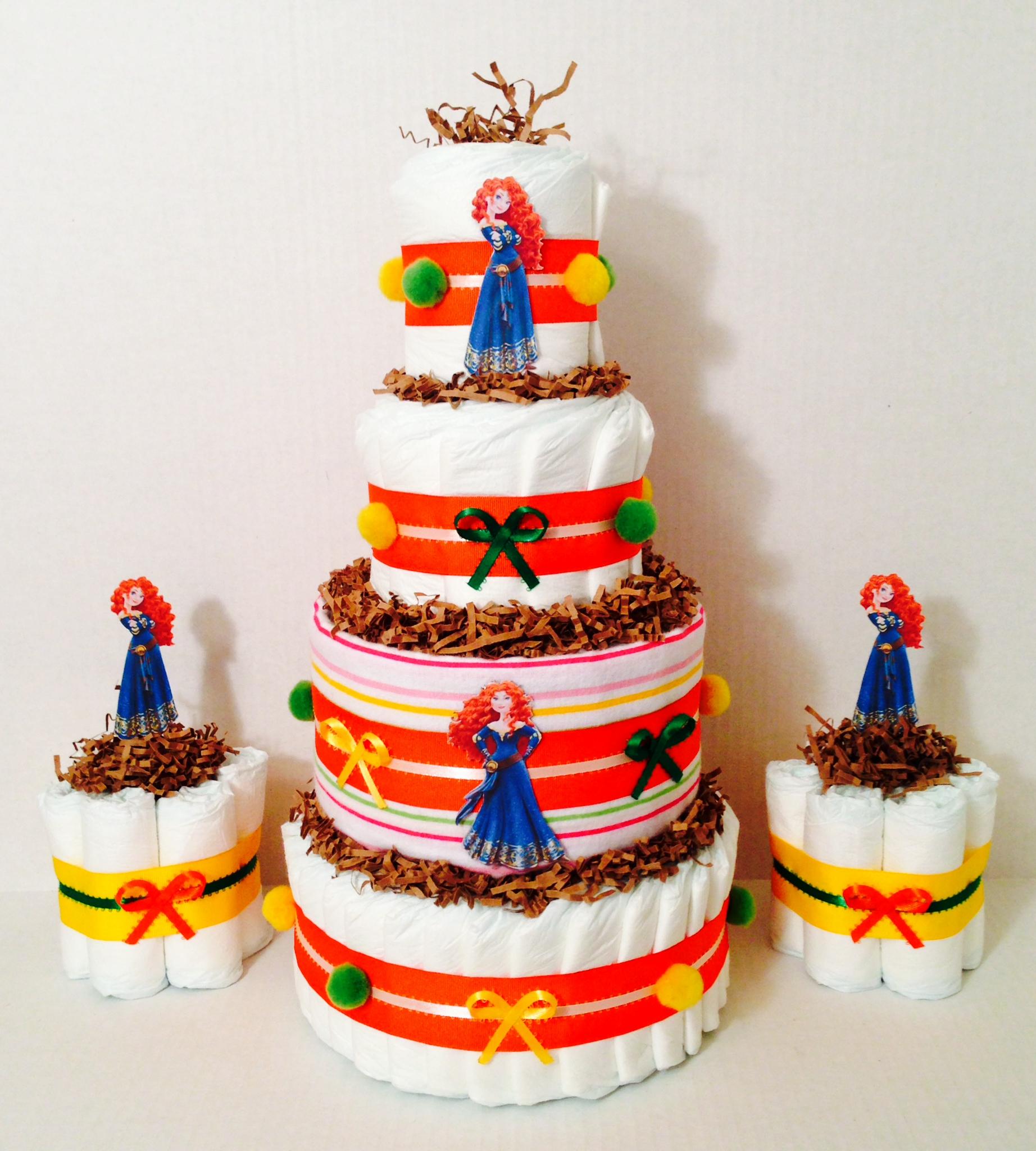 Disney Merida Diaper Cake