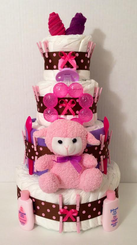 Mary Had A Little Lamb Diaper Cake