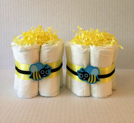 Sweet Bee Mini-Diaper Cake Centerpieces