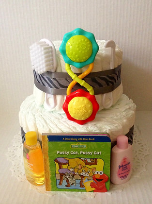 Mini Baby Surprise Baby Cake - 2 Tier