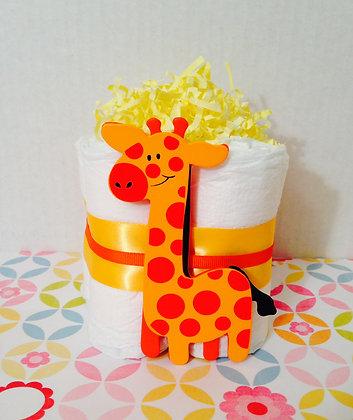 Giraffe Diaper Cake Centerpiece (2)
