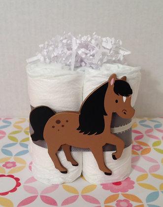 Baby Horse Diaper Cake Centerpieces (2)