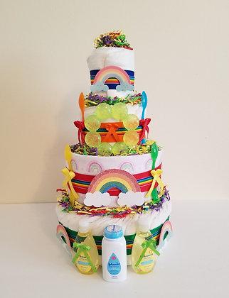 Rainbow Diaper Cake