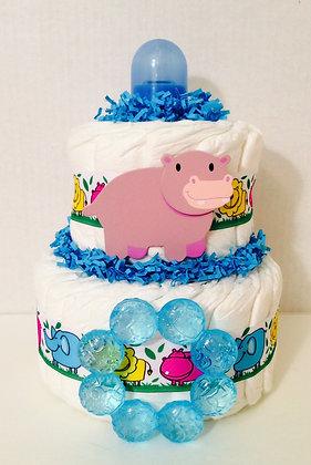 Baby Animals Mini Diaper Cake Centerpiece