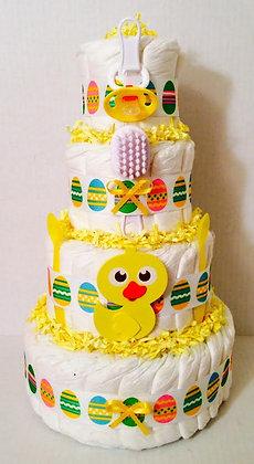 Easter Diaper Cake. 4 Tier.