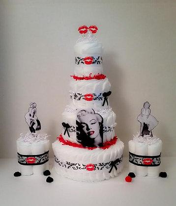 Marilyn Inspired Combo Diaper Cake