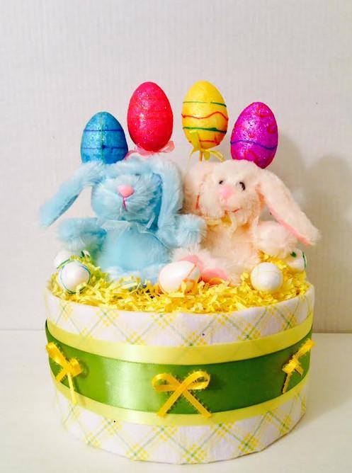 Easter Twin Baby Shower Mini Diaper Cake