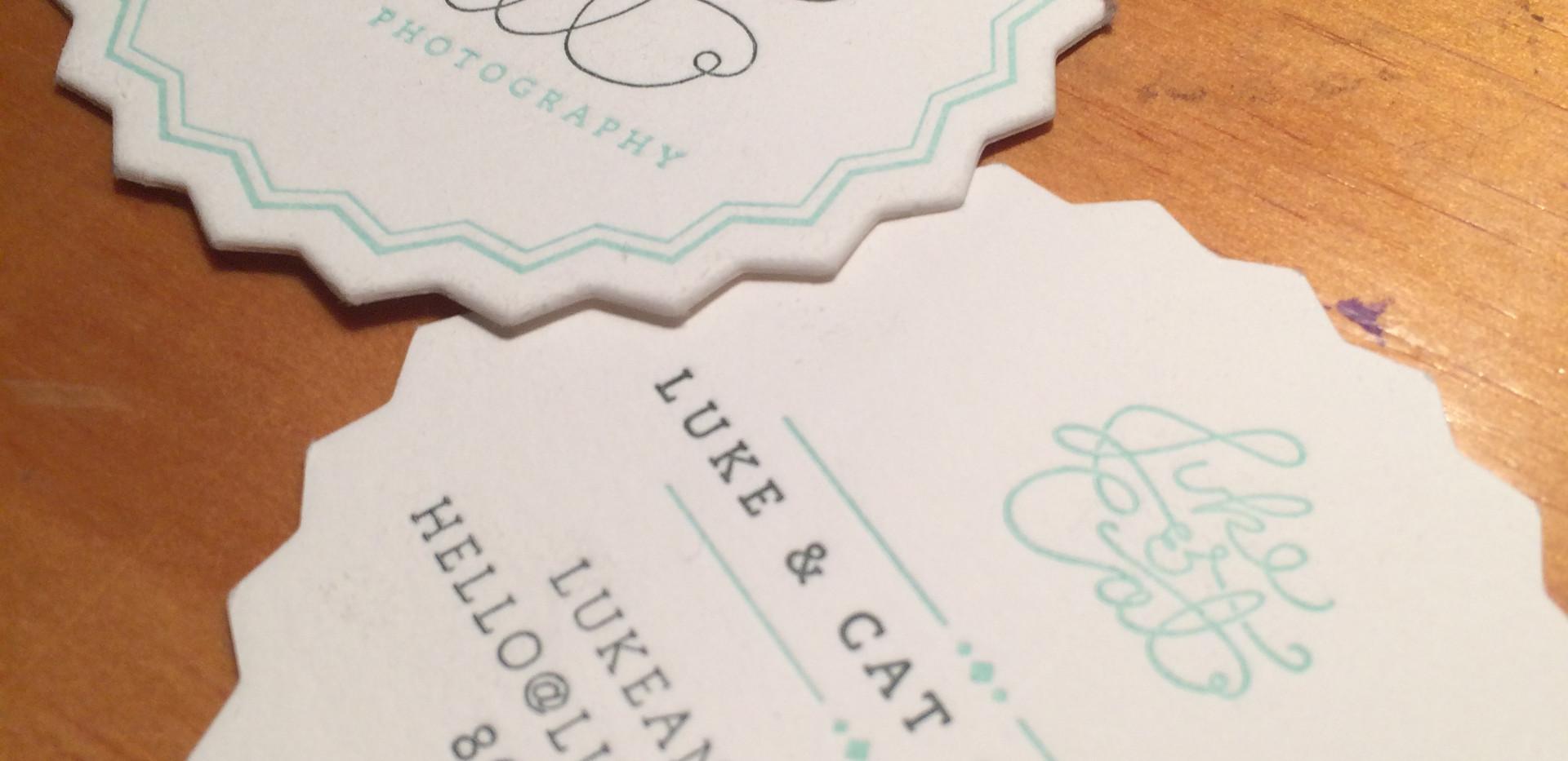 Letterpress Die Cut Cards