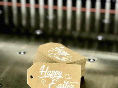 Buttermilk Sky Easter Tag