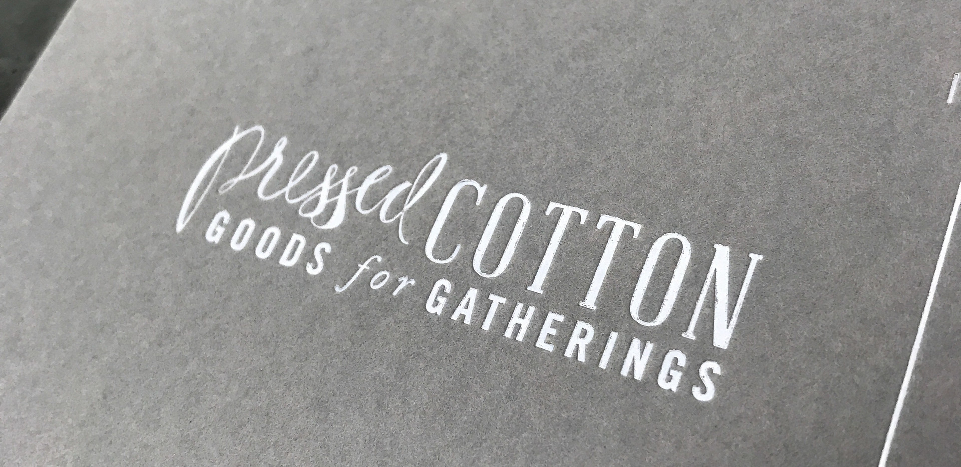 Pressed Cotton Cards