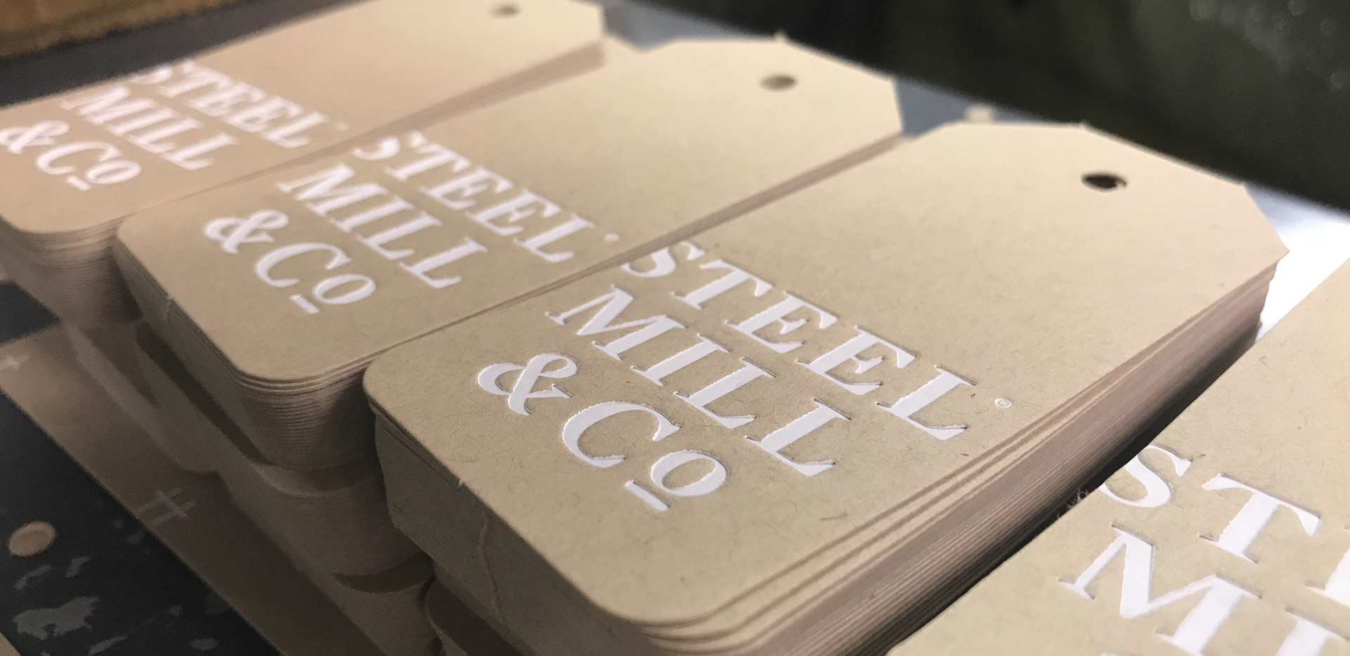 Steel Mill Kraft tags