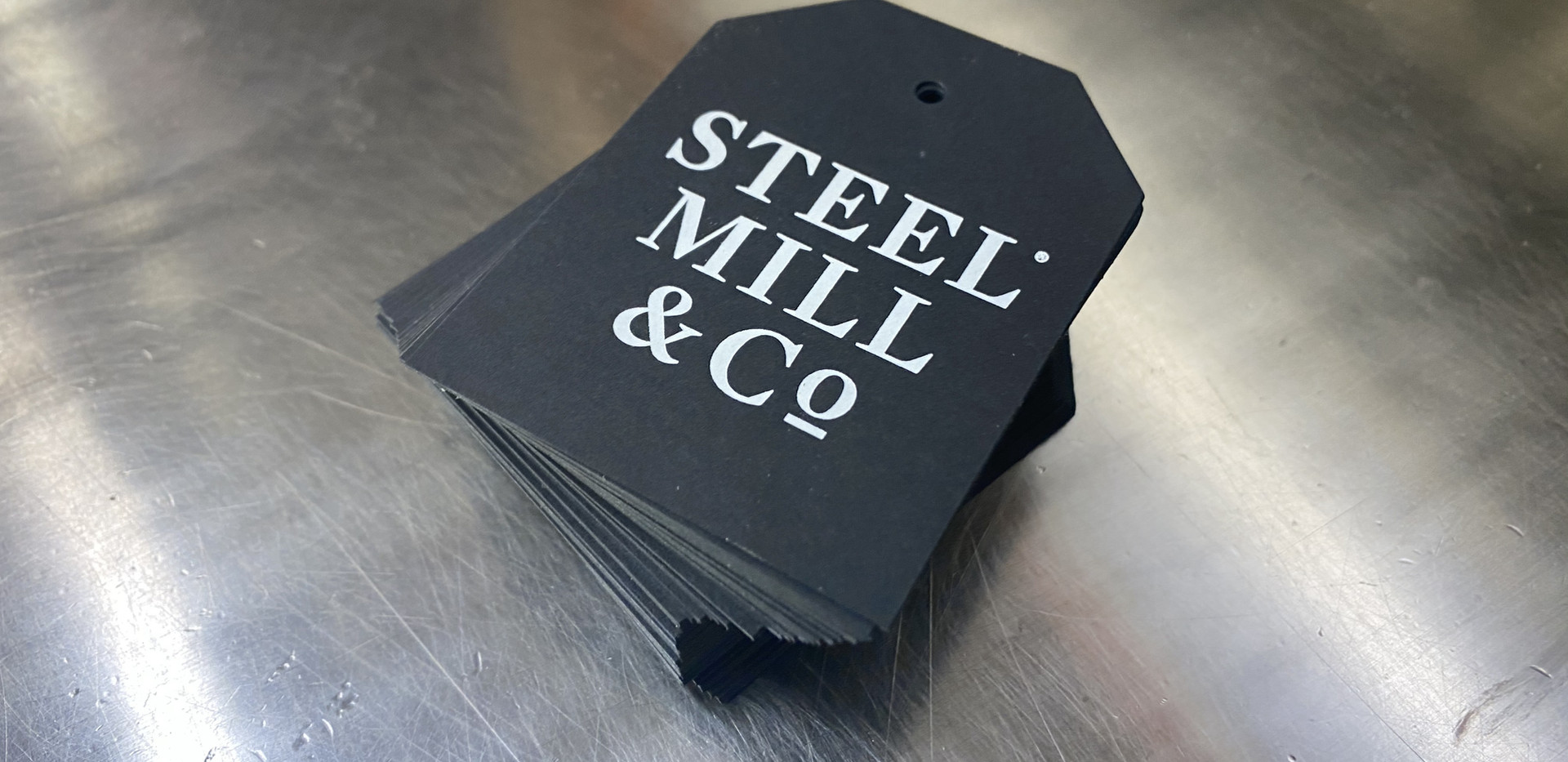 Steel Mill Black Tag