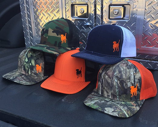 Orange Dog Side Logo Trucker Cap