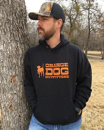Orange Dog Hoodie- Black