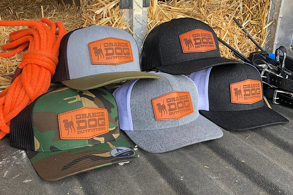 Orange Dog Outfitters Leather Patch Trucker
