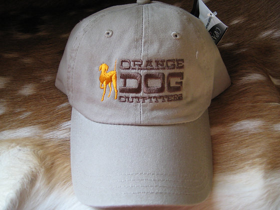 Khaki Orange Dog Cap