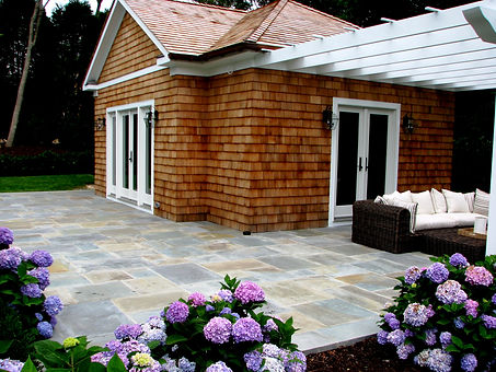 Natural Bluestone patio, project in Southampton NY
