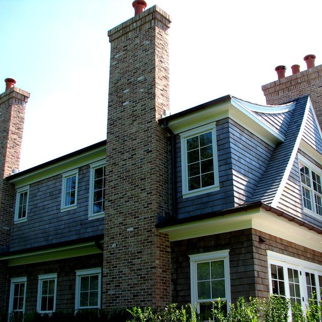 Antique brick chimney, Bridgehampton NY