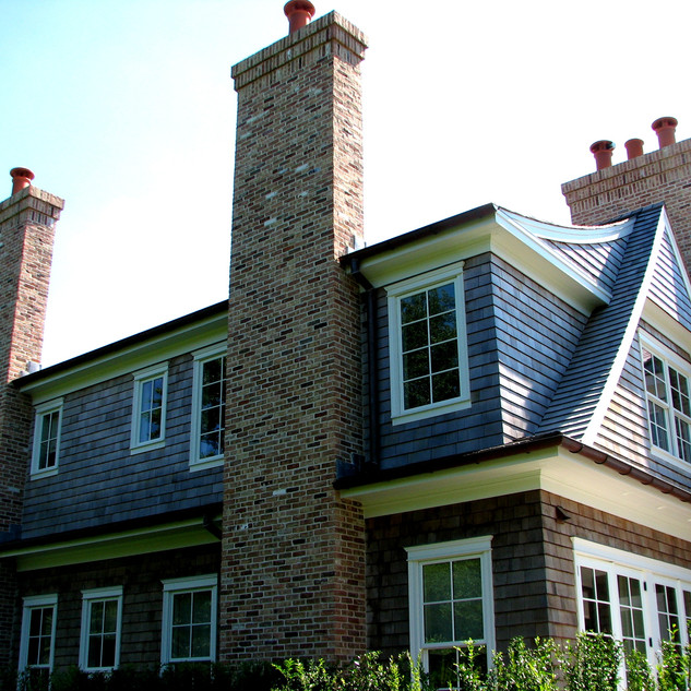Antique brick chimney, Bridgehampton NY