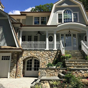 Natural stone veneer facade, project in Roslyn NY