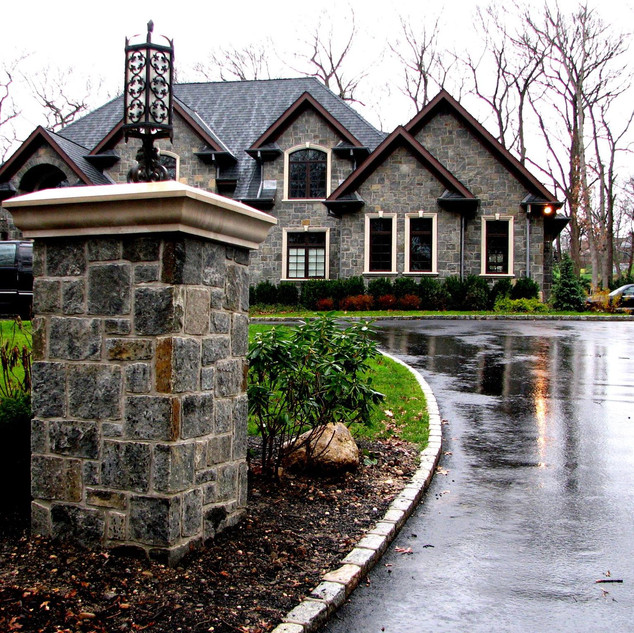 Entry Stone Piers, Northport NY