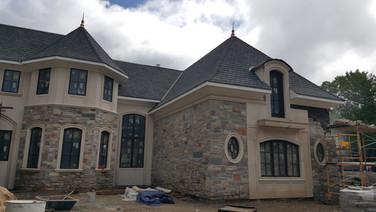 Natural stone veneer house, Brookville N