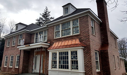 Danish blend brick house facades, project in Manhasset NY