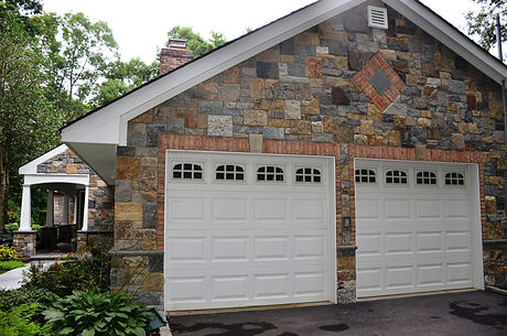 Natural thin stone Veneer facade, Stony Brook NY