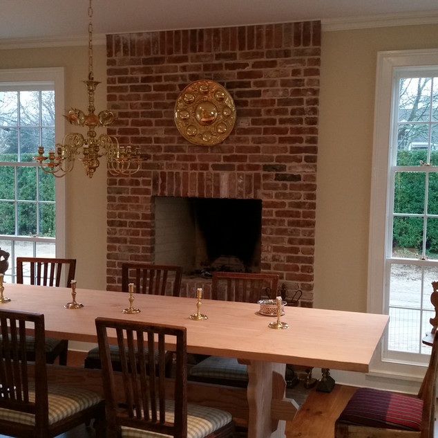 Antique brick fireplace, Project in Brid