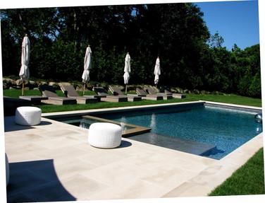 Limestone pool patio, Southampton NY
