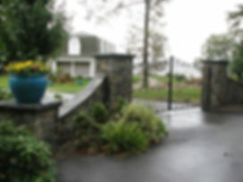 Natural stone Entry Columns / Piers, project in Northport NY