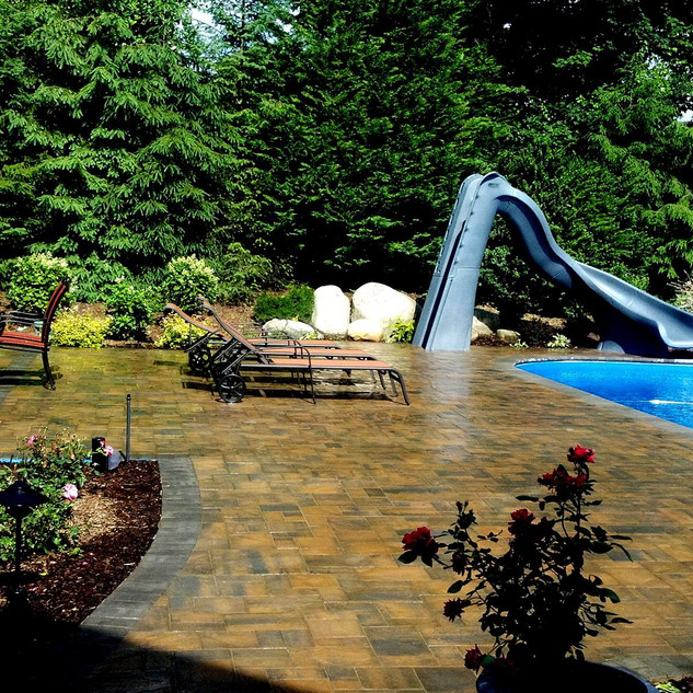 Cambridge pavers pool patio, project in Dix hills NY