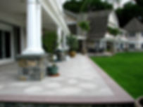 Natural granite stone patio, Northport NY