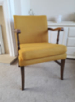 Yellow wool chair