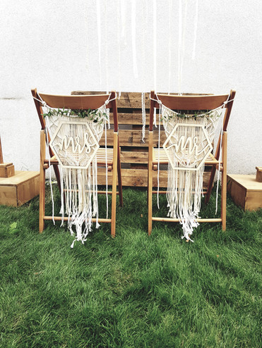 Makramee für Stühle