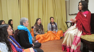 meeting with studengts in spiritual circ