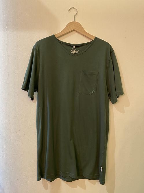 Bleed T-Shirt Pocket V-Neck Forestfibre