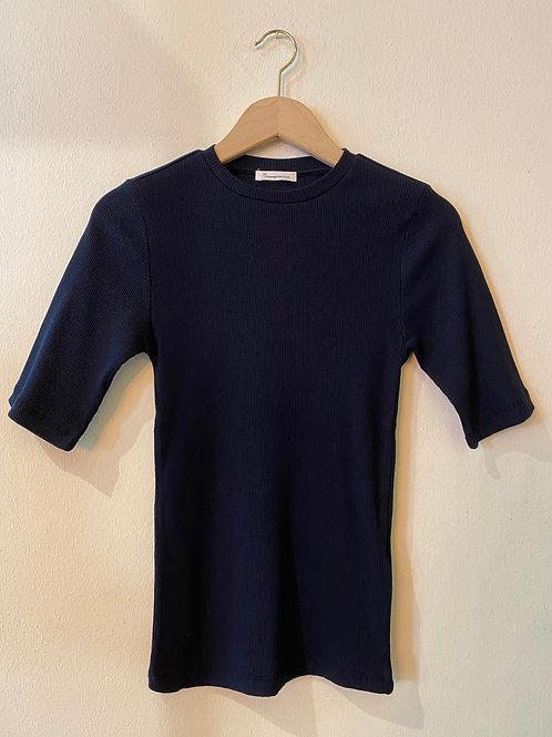 Knowledgecotton T-Shirt Canna rib