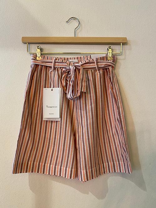 Knowledge Cotton Shorts Tulip striped
