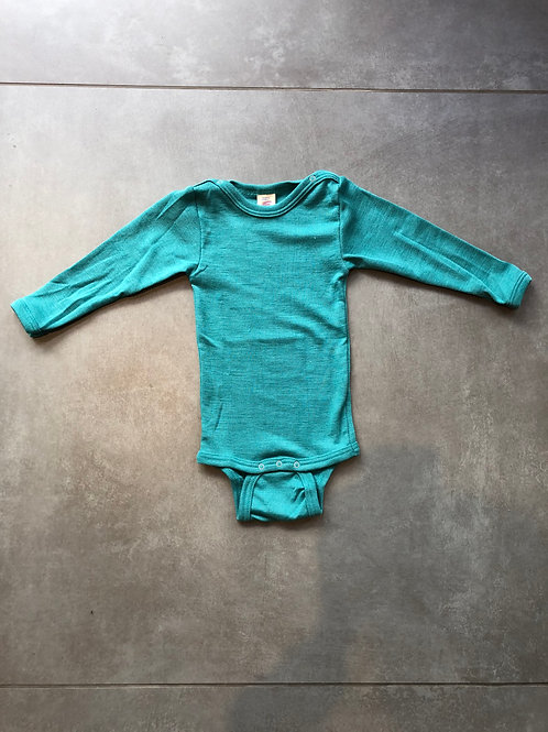 Wolle-Seide-Body langarm uni