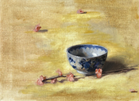 Chinese bowl and blossom