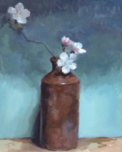 Brown pot and Blossom