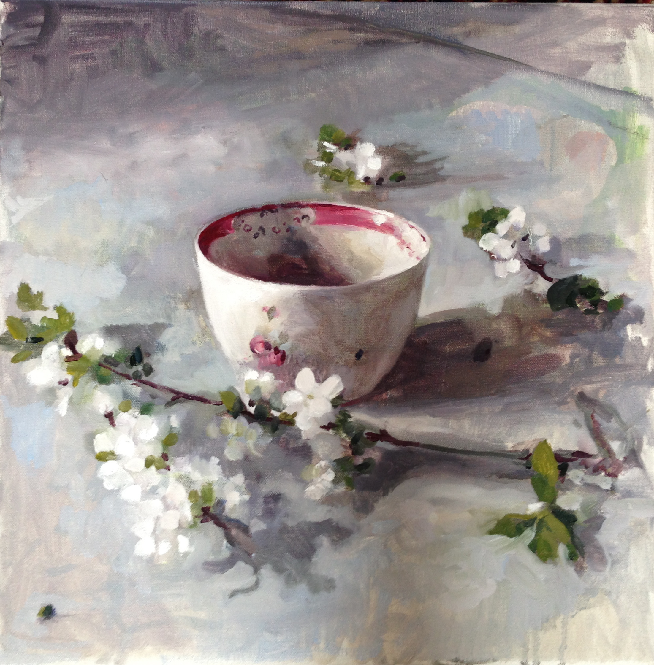 Bowl and blossom