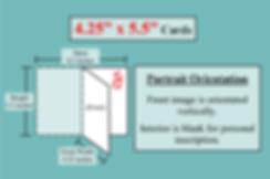 card dimension illustrations 4.25x5 Port