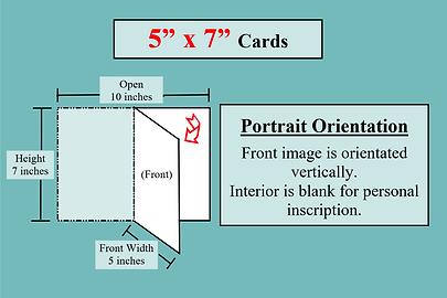 card dimension illustrations 5x7 Portrai