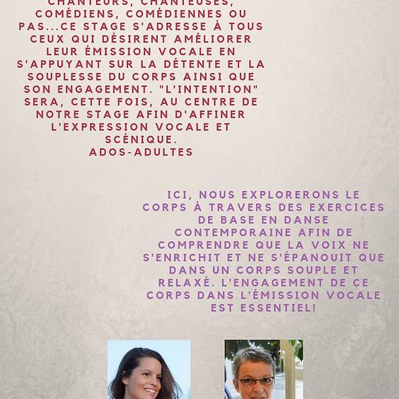 Stage Corps & Voix - Débutant & Confirmé