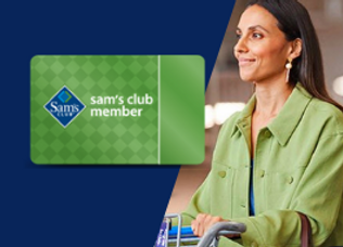 Discount Sam's Club membership that gives back.