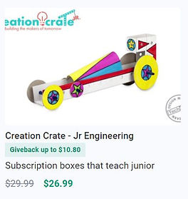 Discount on Creation Crate - Jr Engineering