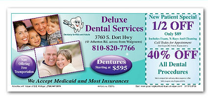 coupon for Deluxe Dental