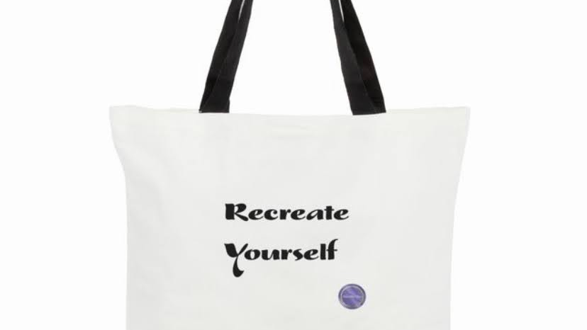 """Recreate Yourself"" Tote Bags"